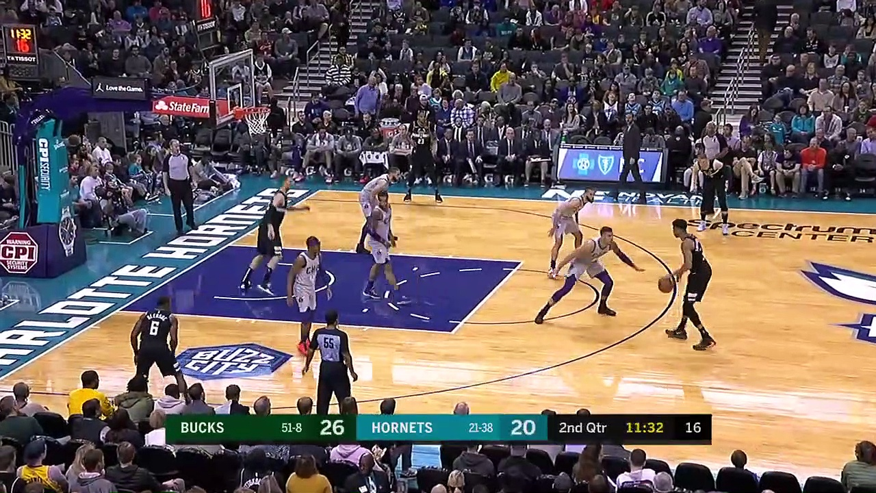 Milwaukee Bucks 93 - 85 Charlotte Hornets