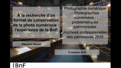 A la recherche d'un format de conservation de la photo numérique : l'expérience de la BNF