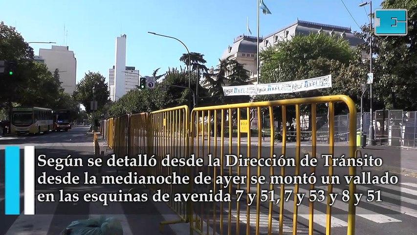Operativos y cortes en zona de Plaza San Martín