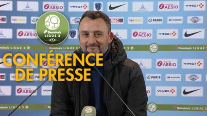 Conférence de presse Paris FC - RC Lens (0-2) : René GIRARD (PFC) - Philippe  MONTANIER (RCL) - 2019/2020