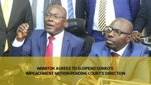 Imwatok agrees to suspend Sonko's impeachment motion pending court's direction