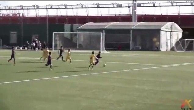 Les 2 premiers buts de Thiago Messi avec le FC Barcelone