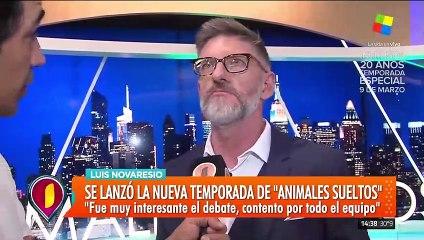 """Luis Novaresio, tras el primer programa de Animales Sueltos: """"Estoy contento"""""""