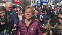 Elizabeth Warren votes in Cambridge, Massachusetts