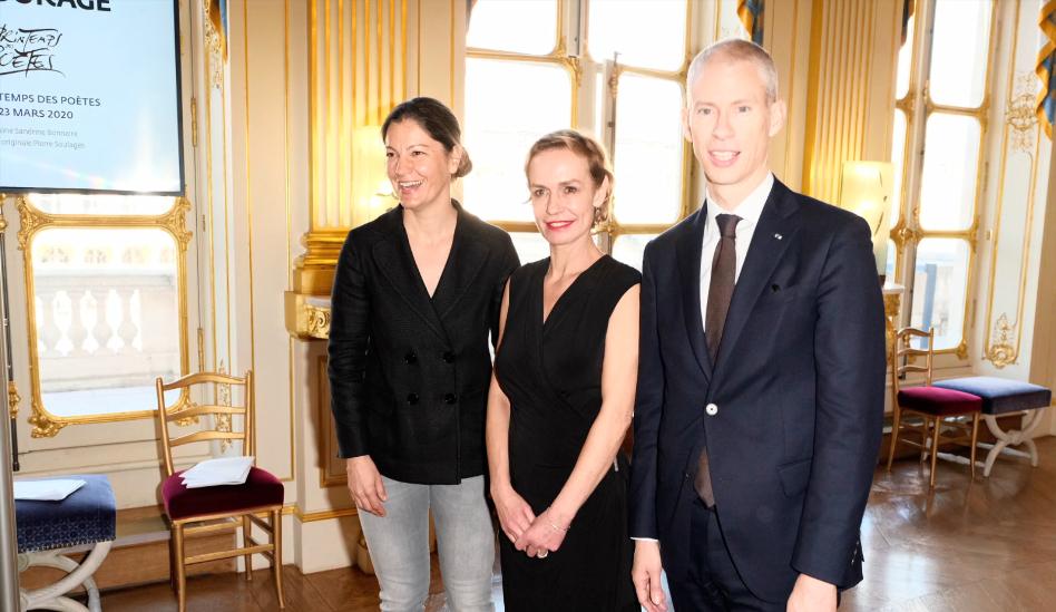 Franck Riester, le ministre de la Culture en France, présente les symptômes du coronavirus