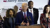 Full speech- Joe Biden talks about healthcare to reporters in Grand Rapids