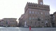 Deserted Italian streets in unprecedented lockdown