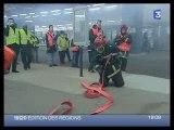 simulation catastrophe tunnel sapeur-pompier