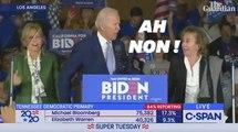 Le discours de Joe Biden lors du Super Tuesday a été compliqué