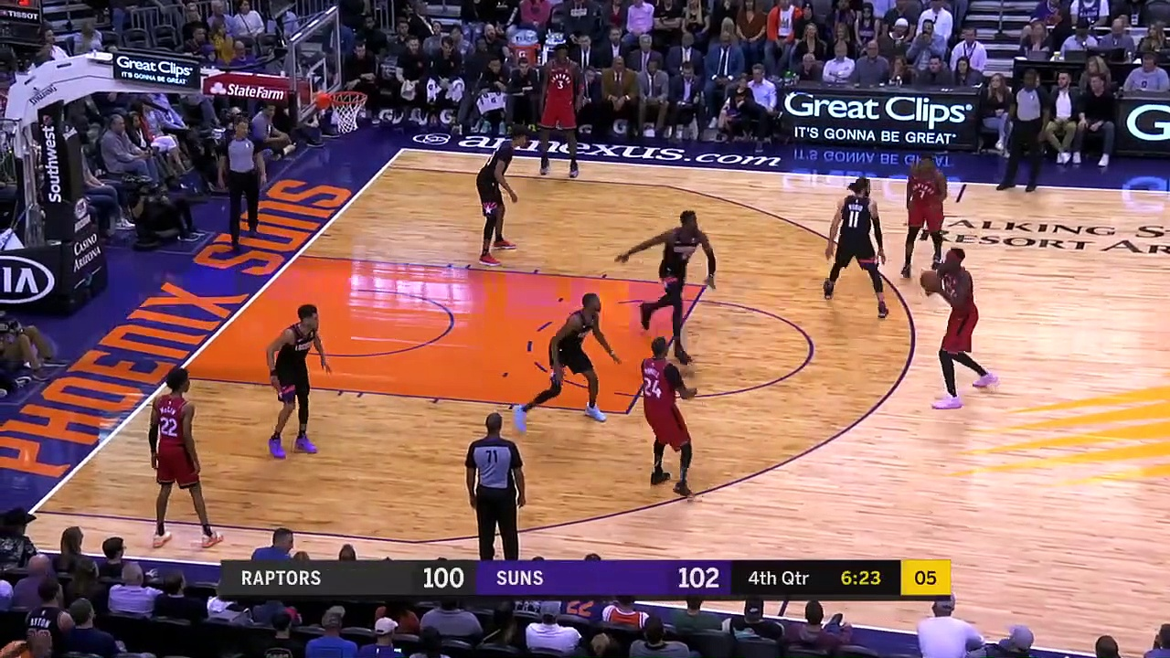 Toronto Raptors 123 - 114 Phoenix Suns