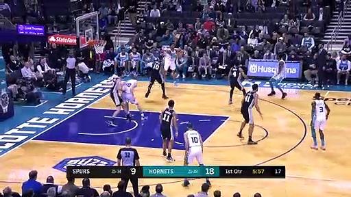 San Antonio Spurs 104 - 103 Charlotte Hornets