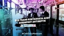 Antisipasi Korona, Trans Koetaradja Aceh Semprot Cairan Antiseptik