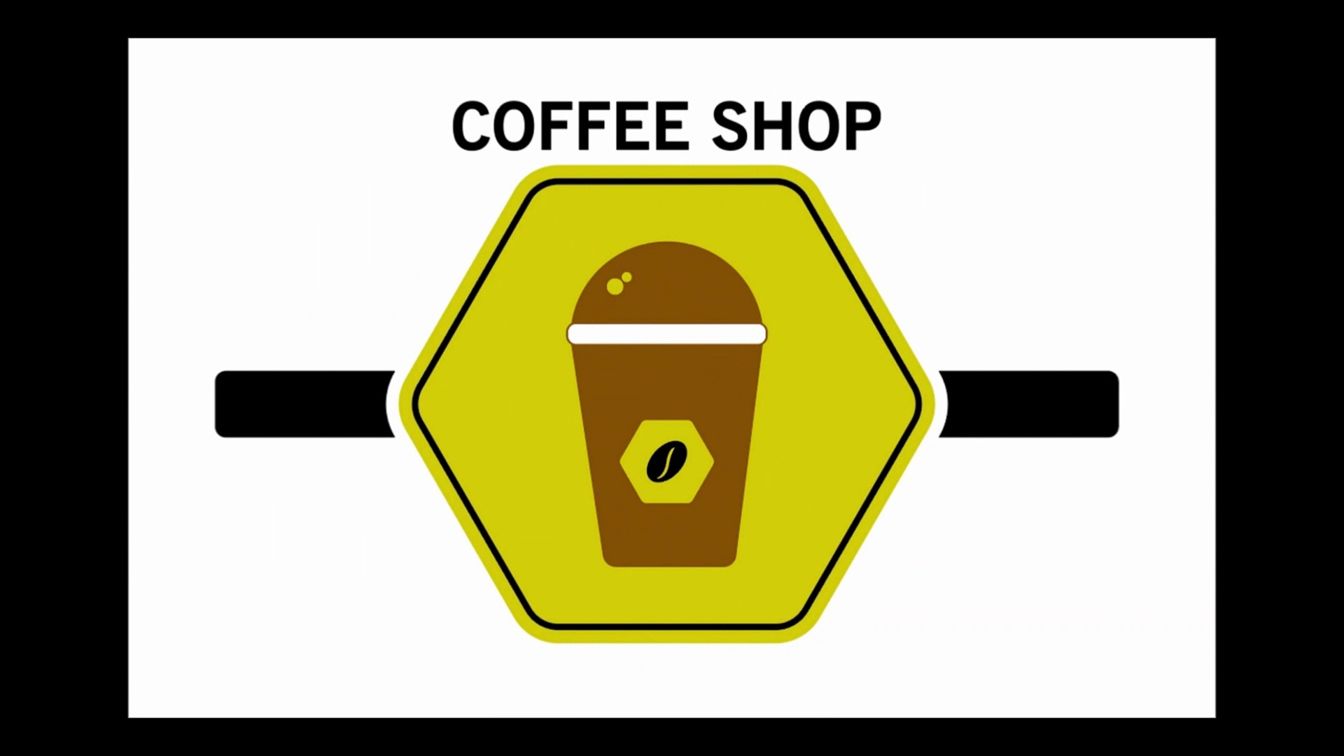 "A Simple Logo for ""COFFEE SHOP""_Design in Adobe Illustrator CC 2020_Logo Design"