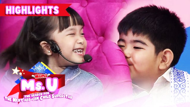 Mini Ms. U candidate winks at Yorme | It's Showtime Mini Miss U