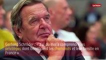 Gerhard Schröder : « J'ai du mal à comprendre les privilèges dont bénéficient les cheminots et leur famille en France »