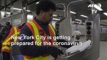 NYC subway stations disinfected as city braces for coronavirus impact