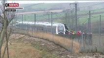 Un TGV Strasbourg / Paris déraille - Selon un bilan de la préfecture, il y a 1 blessé en urgence absolue, 20 blessés en urgence relative