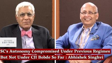 SC's Autonomy Compromised Under Previous Regimes But Not Under CJI Bobde So Far: Abhishek Singhvi