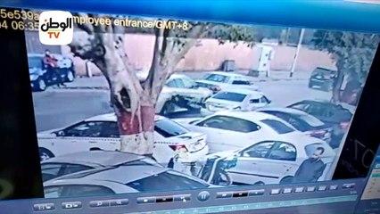 لحظة دهس صالح جمعة لعامل في الجيزة والهروب بسيارته