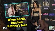When Kartik Aaryan touched Katrina's feet