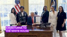 Kim Kardashian visits Trump with ex-female prisoners