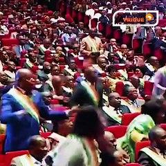 Le Président  Alassane Ouattara annonçant son abstention à la présidentielle de 2020