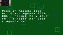 Popular Agenda 2020 A4: Grand Agenda 2020 XXL - Format 21 x 29,7 cm - 2 Pages par Jour - Agenda de