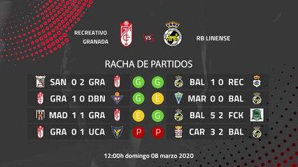 Previa partido entre Recreativo Granada y RB Linense Jornada 28 Segunda División B