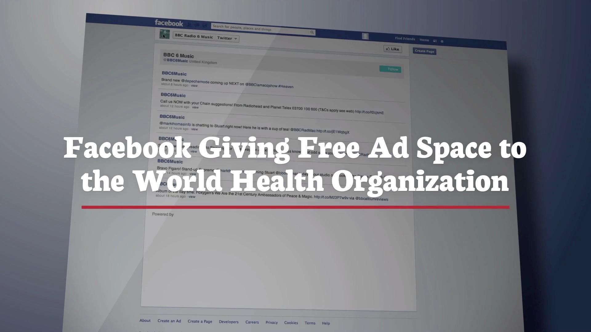 Facebook Supports The World Health Organization