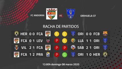 Previa partido entre FC Andorra y Orihuela CF Jornada 28 Segunda División B