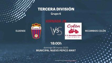 Previa partido entre Eldense y Recambios Colón Jornada 28 Tercera División