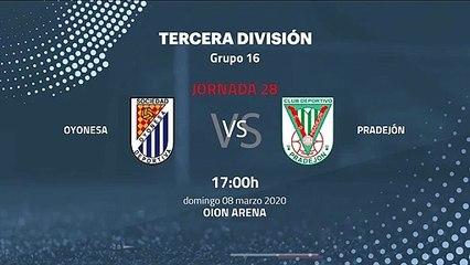 Previa partido entre Oyonesa y Pradejón Jornada 28 Tercera División