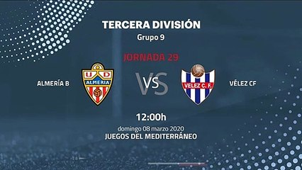 Previa partido entre Almería B y Vélez CF Jornada 29 Tercera División