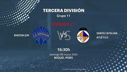 Previa partido entre Binissalem y Santa Catalina Atlético Jornada 27 Tercera División