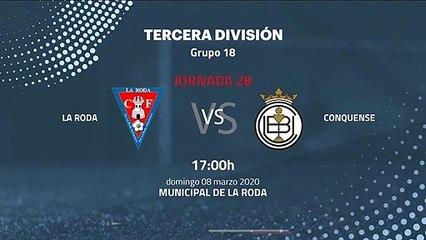 Previa partido entre La Roda y Conquense Jornada 28 Tercera División