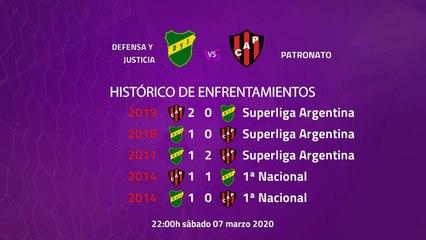 Previa partido entre Defensa y Justicia y Patronato Jornada 23 Superliga Argentina