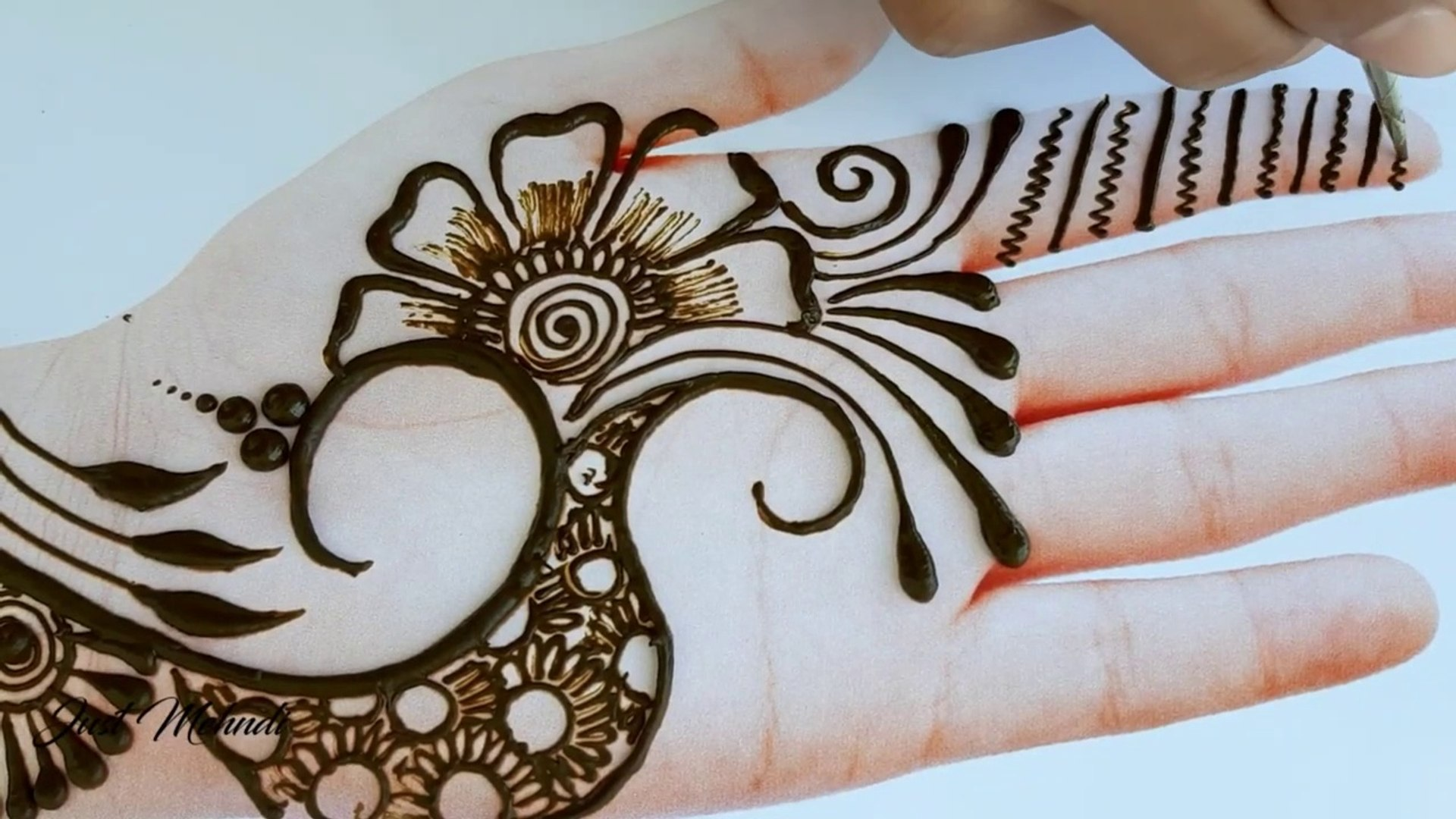 Latest Easy Mehndi Designs For Front Hands Easy Beautiful Mehndi Simple Henna Designs 2019 Video Dailymotion