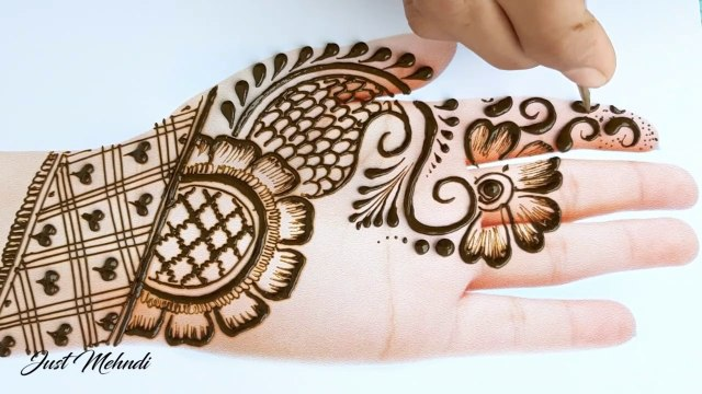 simple mehendi designs for front hand