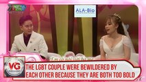 The LGBT couple were bewildered by each other because they are both too bold