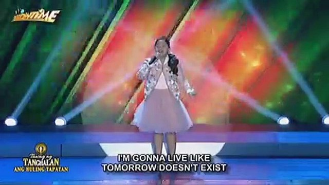 """Elha Nympha stuns in her """"""""Chandelier"""""""" performance on It's Showtime"""