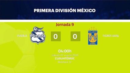 Resumen partido entre Puebla y Tigres UANL Jornada 9 Liga MX - Clausura