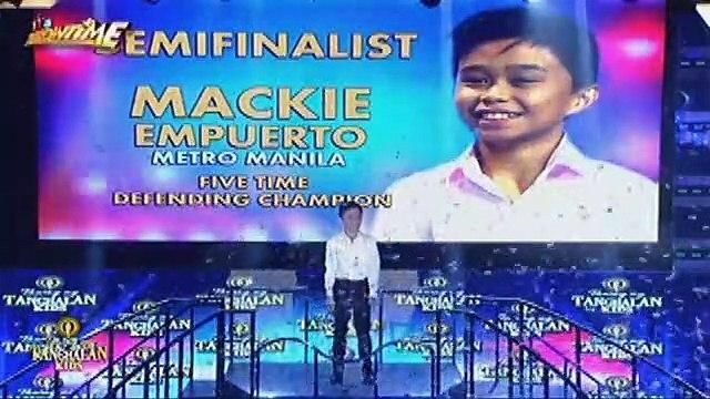 TNT KIDS: Mackie Empuerto, ang ikatlong miyembro ng semi finalist sa Tawag Ng Tanghalan Kids