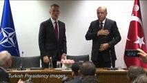 Coronavirus: Erdogan avoids handshakes on Brussels trip