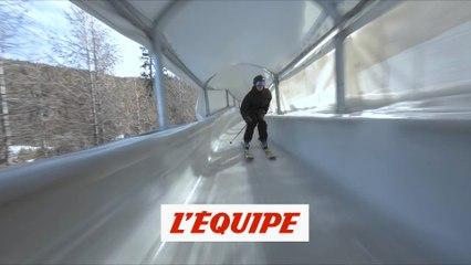 Kevin Rolland skie dans une piste de bobsleigh - Adrénaline - Ski freestyle