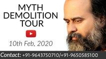 Myth Demolition Tour with Acharya Prashant || Live from Rishikesh (10-02-2020)