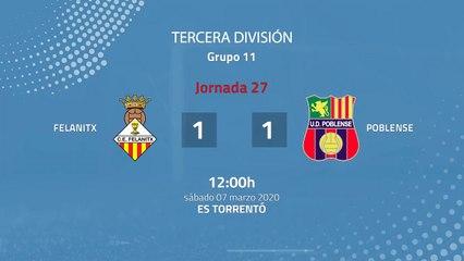 Resumen partido entre Felanitx y Poblense Jornada 27 Tercera División