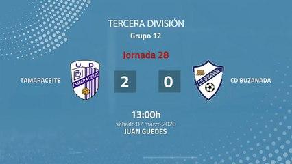 Resumen partido entre Tamaraceite y CD Buzanada Jornada 28 Tercera División