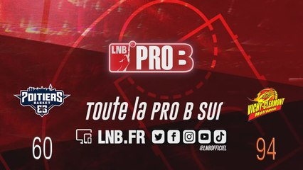 PRO B : Poitiers vs Vichy-Clermont (J22)