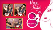 Karishma Kapoor celebrates Women's Day with FilmiBeat team | FilmiBeat
