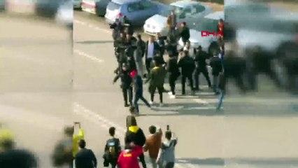 Yeni Malatyaspor Başkanı Gevrek ve taraftarlar arasında kavga